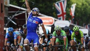 French cyclist Arnaud Demare won the professional cyclist race