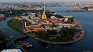St Peter and St Paul's Cathedral in St Petersburg