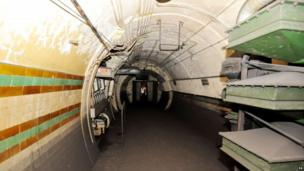 A view inside the former Brompton Road tube station