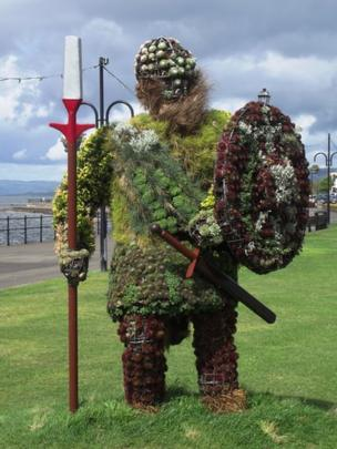 Viking man made of plants
