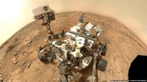 Curiosity rover, self-portrait