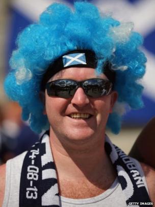Scotland fan in Trafalgar Square