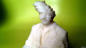 3D printed man with lopsided head
