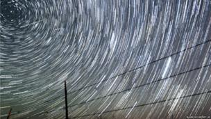 Meteors streak past stars in this time lapse photograph taken near the city of Cheyenne, Wyoming, US, during the annual Perseid meteor shower on 13 August, 2013