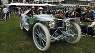 A 1914 American Underslung 642 Roadster