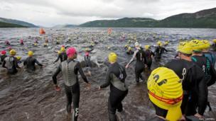 Loch Ness swimmers