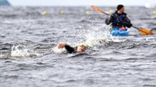 loch ness swimmer
