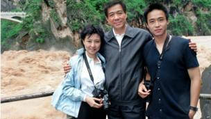 "Gu Kailai with her husband Bo Xilai and son Bo Guagua. China""s Communist Party suspended former high-flying politician Bo from its top ranks and named his wife, Gu Kailai, a suspect in the murder of expat British businessman Neil Heywood, in revelations on April 10, 2012"