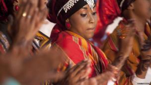 Dancers perform a traditional Somali dance at the book fair - Hargeisa, Somaliland