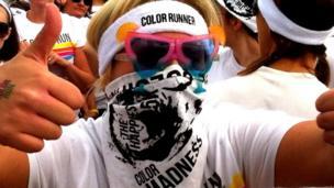 'Color Run' competitor in Belfast