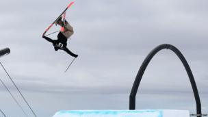 Skiing flip