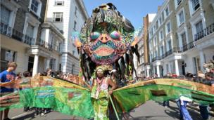 Woman in Carnival procession