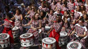Steel drummers at the Carnival