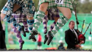 Highland dancing at the Braemar Gathering