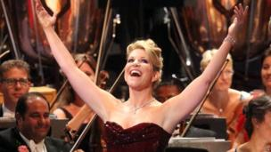 US Mezzo-Suprano Joyce DiDonato during the Last Night of the Proms at the Royal Albert Hall