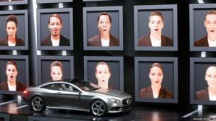 A Mercedes S-Class Coupe concept car