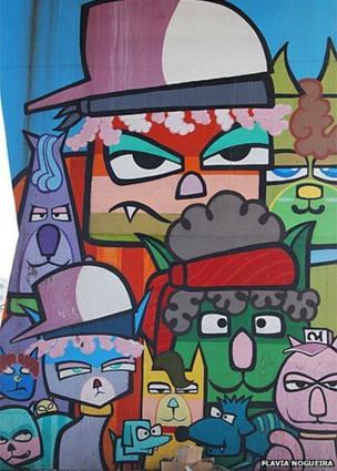 Graffiti by Minhau in Sao Paulo