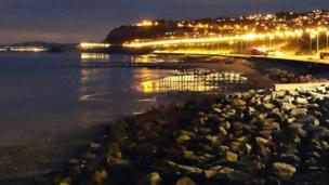 The lights of Old Colwyn,