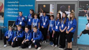 School Reporters from Tendring Technology College arrive