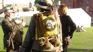 A steam powered jet pack