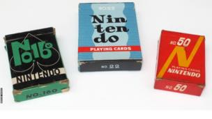 Photograph of Nintendo playing cards