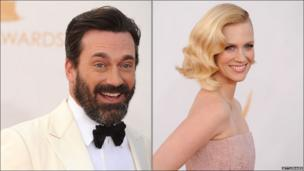 John Hamm and January Jones