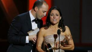 Julia Louis-Dreyfus and Tony Hale