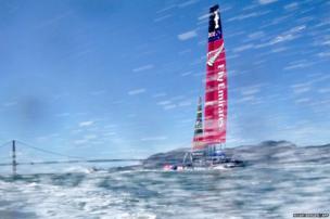 Emirates Team New Zealand boat