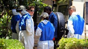 Forensics experts at Nairobi City Mortuary on 26 September 2013