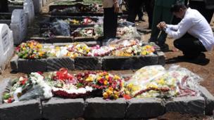 Grave of Kenyan journalist Ruhila Adatia-Soon in Nairobi on 26 September 2013