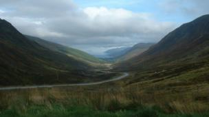 View of Glen Docherty, Kinlochewe and on to Loch Maree