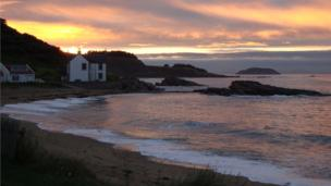 Sunset over Canty Bay