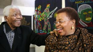 Nelson Mandela and wife, Graca Machel