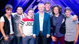 Louis Walsh and the final 6 boys