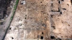 Excavation of an Anglo Saxon monastic site