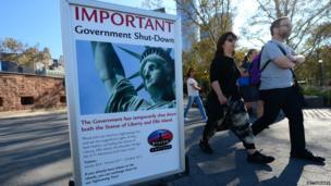 Statue of Liberty shut down