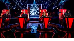 The new lineup for The Voice with Ricky, Sir Tom, Kylie and will.i.am