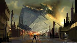 Amy Beth Christenson: Star Destroyer crash, The Force Unleashed video game (Digital)