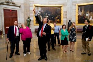 Senator John Boozman leads a tour in the Rotunda on Capitol Hill in Washington