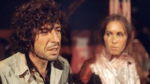 Leonard Cohen at the Isle of Wight festival 1970