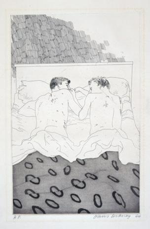 TWO BOYS AGED 23 OR 24 FROM ILLUSTRATIONS FOR FOURTEEN POEMS FROM C.P. CAVAFY