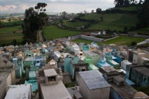 Cemetery in Cumbal, Narino