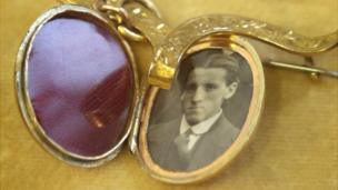 A locket containing a photograph of Wallace Hartley, the band leader of the Titanic aboard the doomed liner