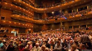 Crowds at the Wales Millennium Centre