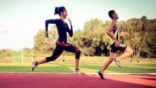 Brunei's Maziah Mahusin, the first female athlete to compete for Brunei at the Olympic Games and her training partner Ak Hafiy Tajuddin Rositi.