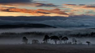 Sunrise over Carrbridge