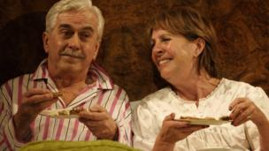 Nicholas Le Prevost and Penelope Wilton in Bedroom Farce