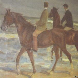 Max Liebermann's Two Riders on the Beach, unveiled by the German authorities in Augsburg, 5 November