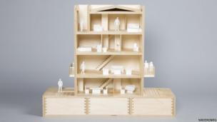 Wooden multi-storey house