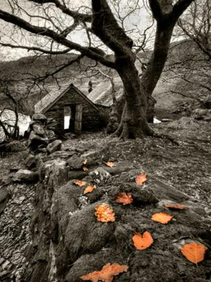 Old boat house at Llyn Dinas, Beddgelert
